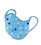 Reusable Face mask with BacLock®, kids blue/yellow stars